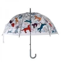 Átlátszó kutyás-macskás esernyő
