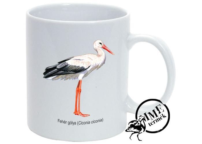 Bögre - fehér gólya