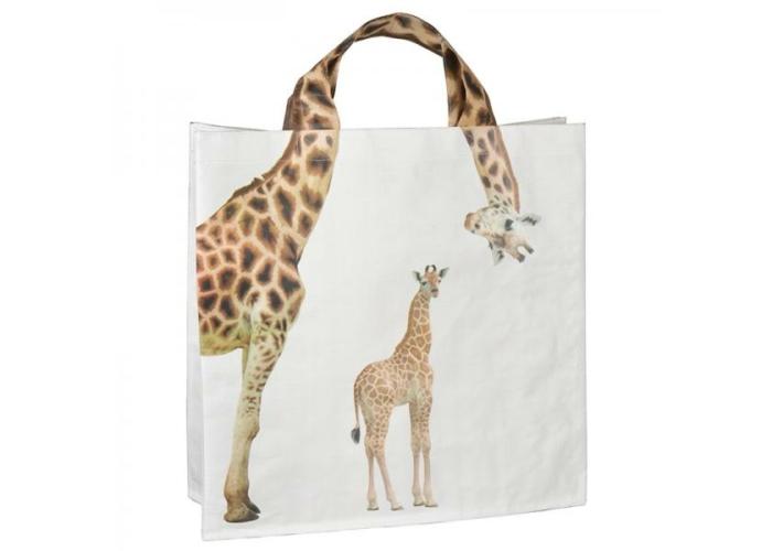 Nagy zsiráfos bevásárló táska