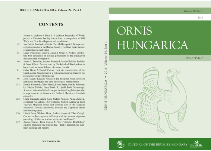 Ornis Hungarica 2016/1