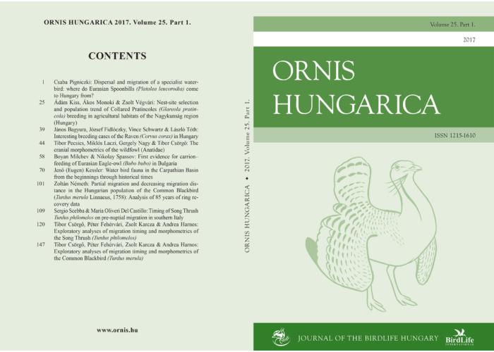 Ornis Hungarica 2017/1