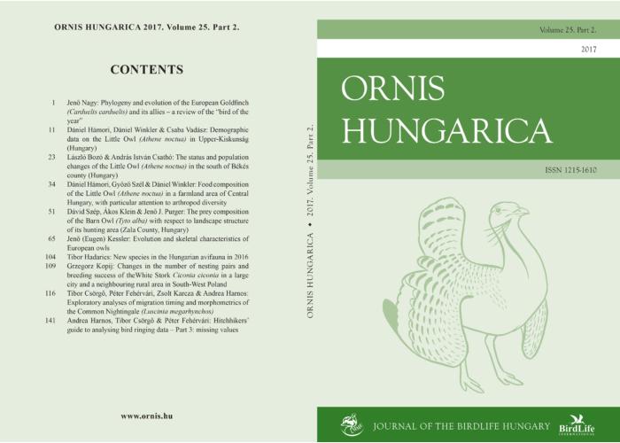 Ornis Hungarica 2017/2