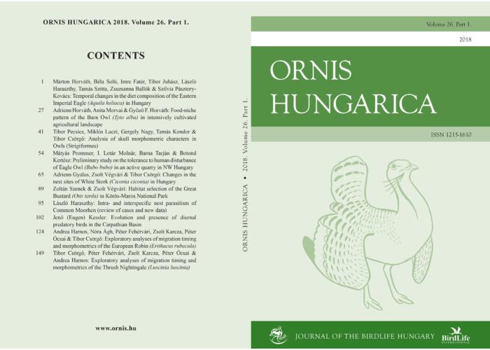 Ornis Hungarica 2018/1