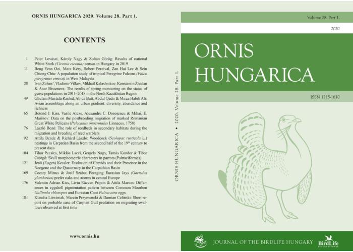 Ornis Hungarica 2020/1