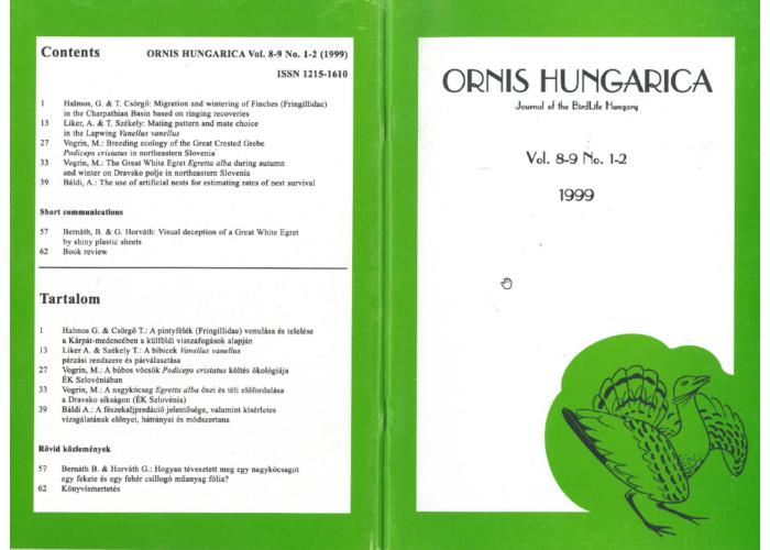 Ornis Hungarica 1999