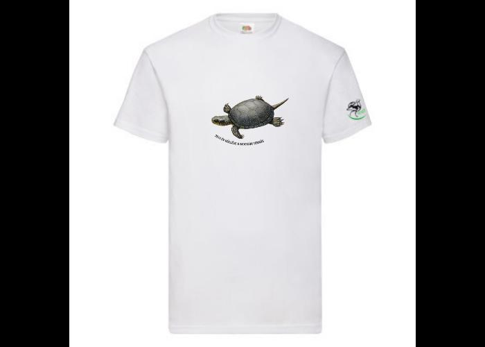 Férfipóló mocsári teknős mintával