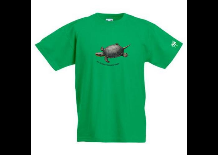 Gyerek póló mocsári teknős mintával