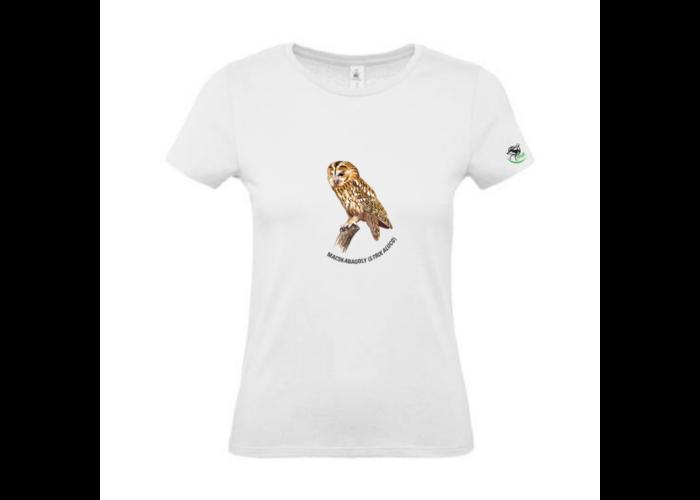 Női póló macskabagoly mintával